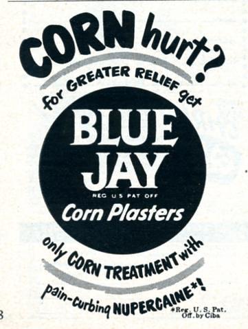 Blue Jay Corn Plasters 1950 by Nesster