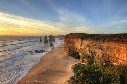 sunset australia cliffs greatoceanroad hdr 12apostles nikond700 nikon2470mm28