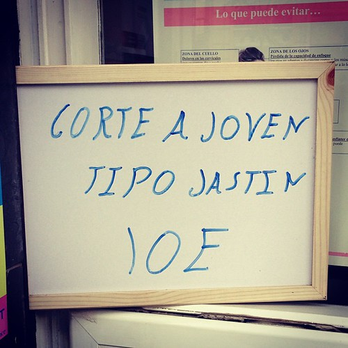 Peinado tipo Jastin a 10€ xD