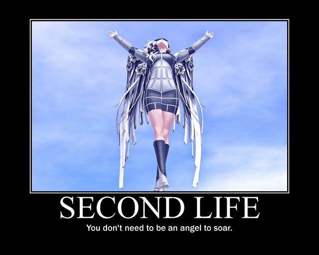Second Life Motivational Meme