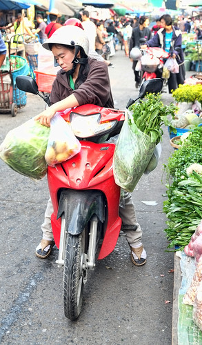 Buying Fruits and Veggies at the Muang Mai Market, Chiang Mai, Thailand