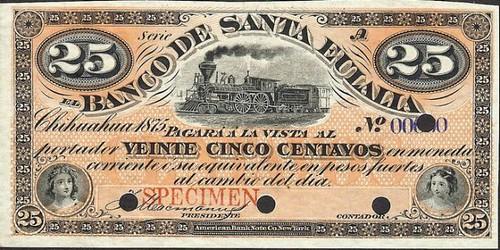 Banco de Santa Eulalia 25c