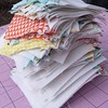 198 perfect HST's ready to become a #babyquilt #ohboy #spinningstar #whatimdoingtoday