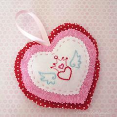 hanging heart valentine