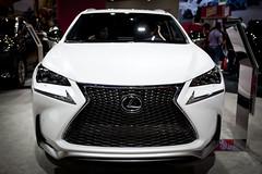 automobile(1.0), automotive exterior(1.0), sport utility vehicle(1.0), wheel(1.0), vehicle(1.0), lexus rx(1.0), automotive design(1.0), lexus(1.0), auto show(1.0), mid-size car(1.0), bumper(1.0), lexus rx hybrid(1.0), land vehicle(1.0),
