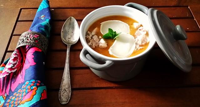 sopa de carabassa y formatge 3