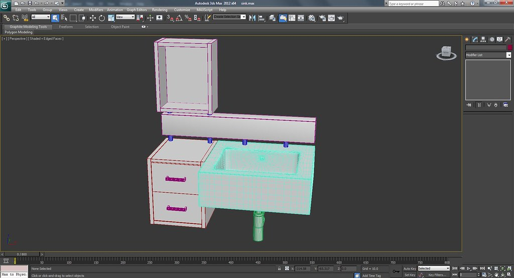 3d Bath Room Sink Work In Progress Wire Frame Screenshots
