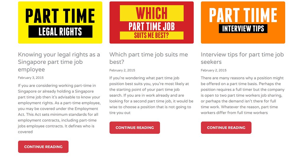 Looking for part time jobs in Singapore? Temp jobs, Student jobs or Singapore Internships? Welcome to Singapore's Most Remarkable part time job portal!