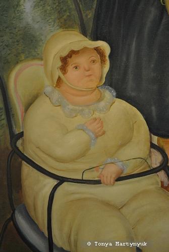 30. Fernando Botero. Family Scene, 1969. Фрагмент.