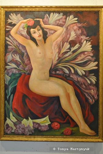 16. Diego Rivera. Nardos (Nude with flowers / Nu com flores), 1944