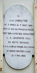 Photo of Jean de La Bruyère marble plaque