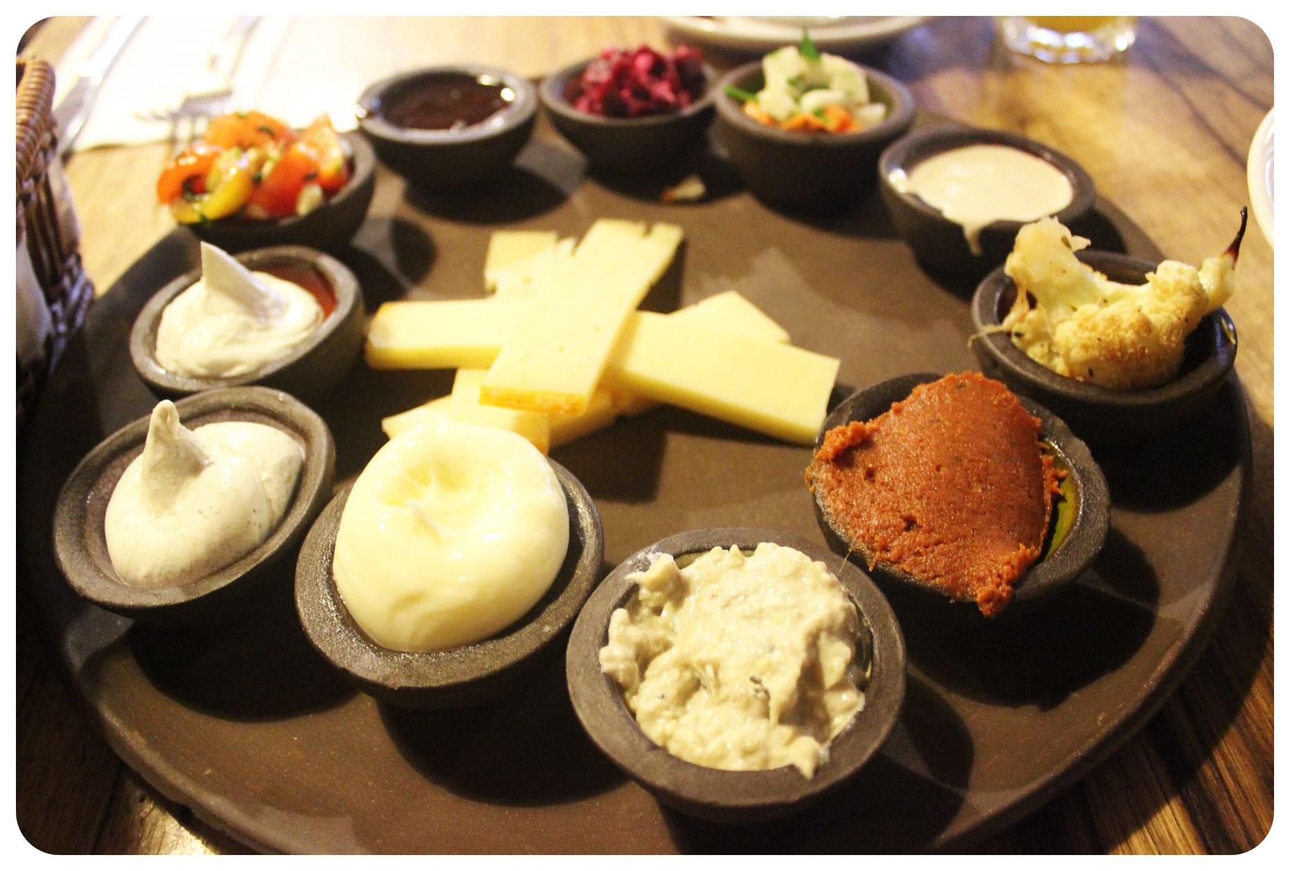 israeli mezze breakfast