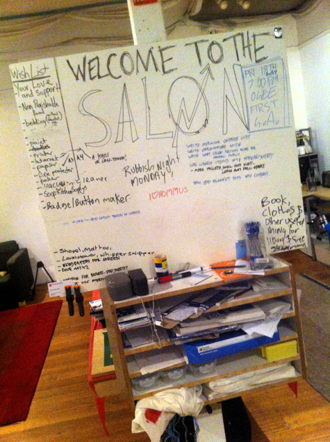 The Salon whiteboard
