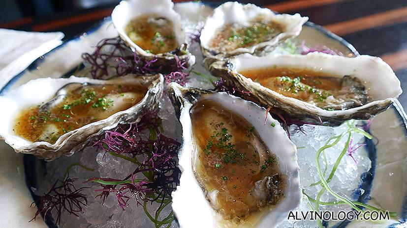 Fresh Gillardeau No.1 oysters
