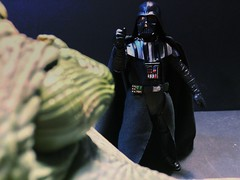"""chevy2who has added a photo to the pool:Vader: """"You called me a Jedi. You know nothing. Mind tricks are not for the Dark Side."""" (As Vader Force Chokes Jabba) """"We Prefer Force."""" """"Do you understand."""""""