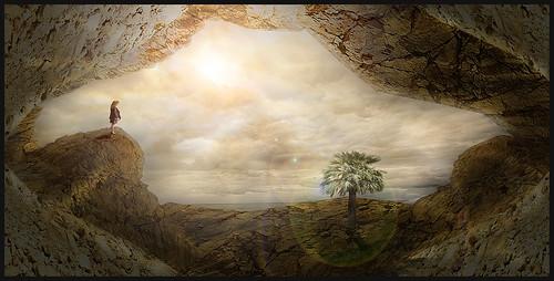 Matte painting landscape dreaming