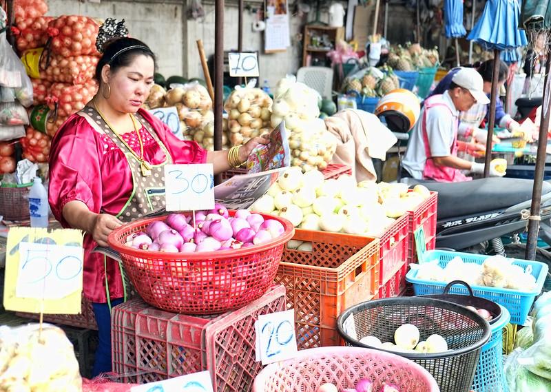 Onion Vendor...Muang Mai Market, Chiang Mai, Thailand
