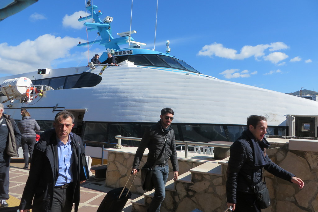 Ferry in Messina (Sicily) from Reggio Calabria