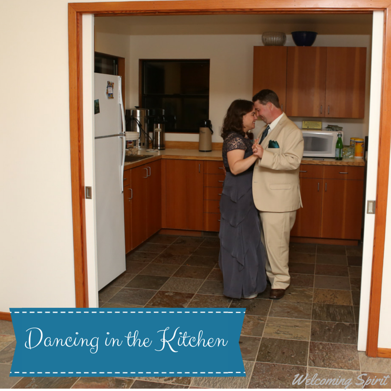 Dancing in the Kitchen, Wedding Dance on Welcoming Spirit