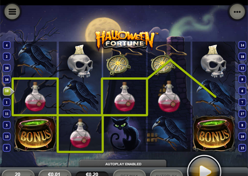 free Halloween Fortune Mobile bonus game feature