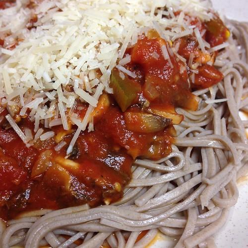 Soba spaghetti