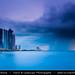 Qatar - Doha - Doha Corniche during heavy storm at sunrise