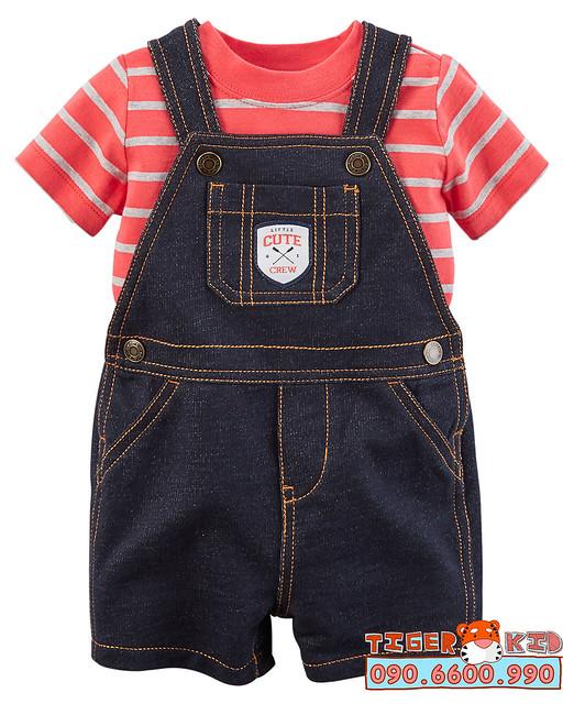 Quần áo trẻ em, bodysuit, Carter, đầm bé gái cao cấp, quần áo trẻ em nhập khẩu, Bộ yếm Carter's nhập Mỹ 6M-24M