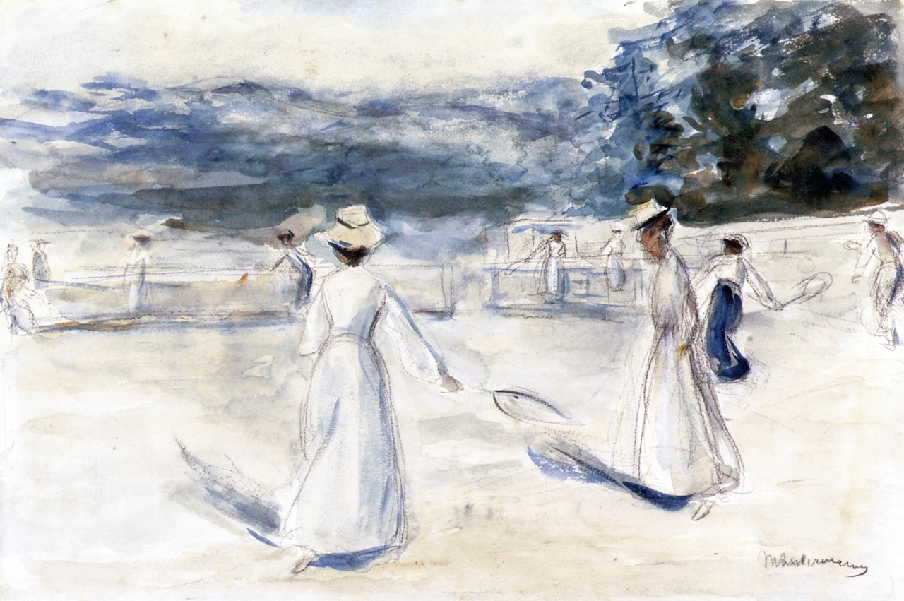 Tennis Players by the Sea by Max Liebermann - circa 1901