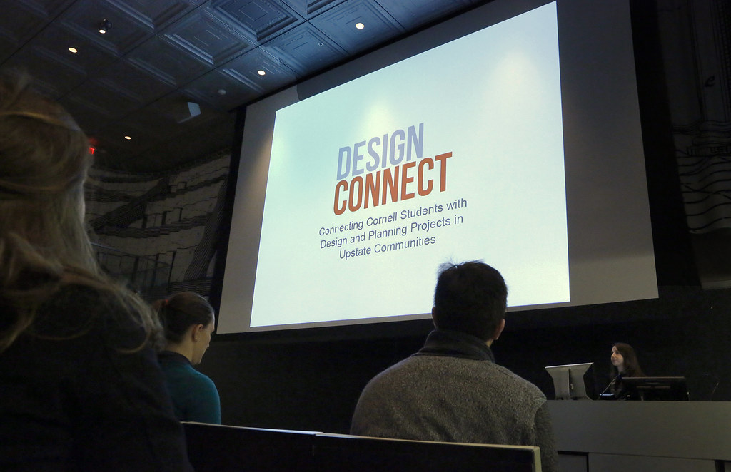 Design Connect fall 2015 project presentations in the Abby and Howard Milstein Auditorium.