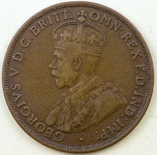 Coin photography - 1918 Australia one cent