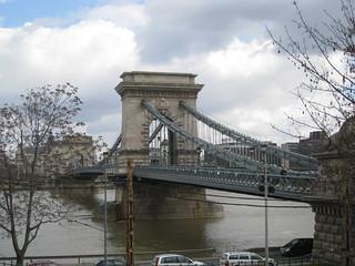 Chain Bridge looking towards the Gresham Palace
