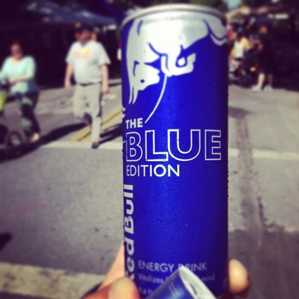 Promoting new flavors. #RedBull