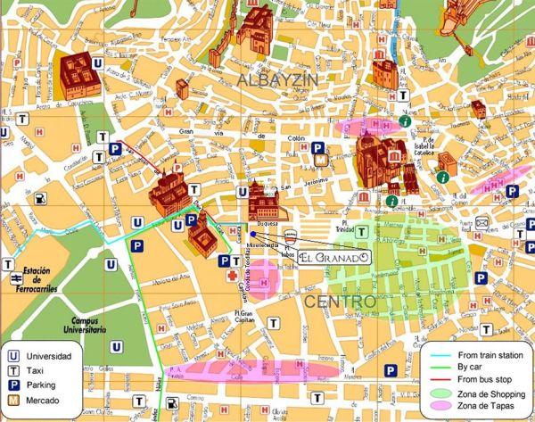 Mapa Centro Granada