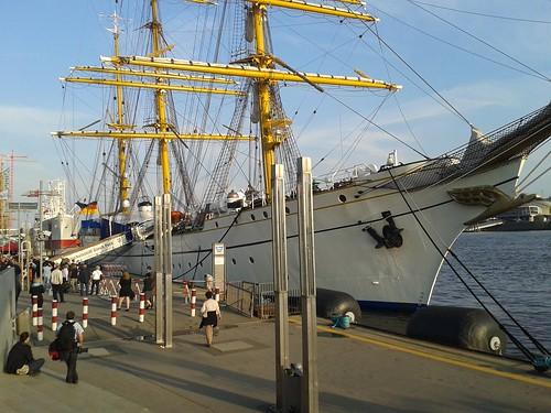 Empfang auf der Gorch Fock - Patenschiff der Hamburgischen Bürgerschaft und des Hamburger Senats
