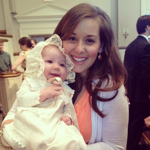Beautiful day celebrating my precious daughter at her baptism. So thankful to be her and her three brothers mommy.
