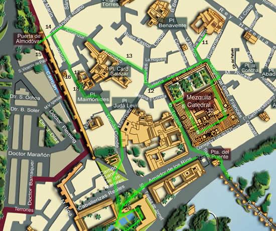 Mapa Unesco em Cordoba