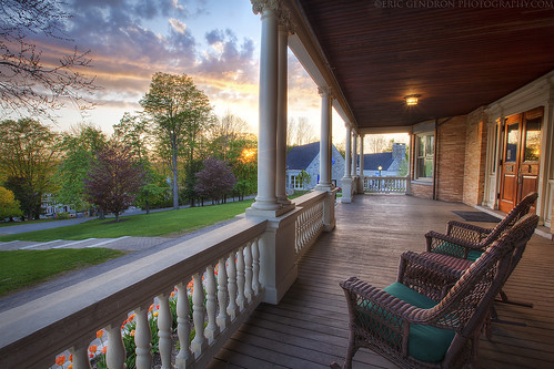 wood old school sunset cloud sun flower color tree art nature canon fence campus landscape evening town spring chair scenery village angle dusk mark south pillar wide maine scenic newengland wideangle scene historic pole deck step ii porch tulip 5d academy wicker berwick grounds hdr potoshop photomatix berwickacademy cs6 southberwick ontheporch 5dmarkii ericgendron