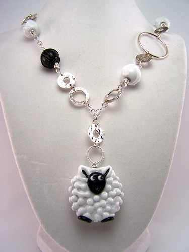 Mother's Day: Sheep and Yarn Necklace