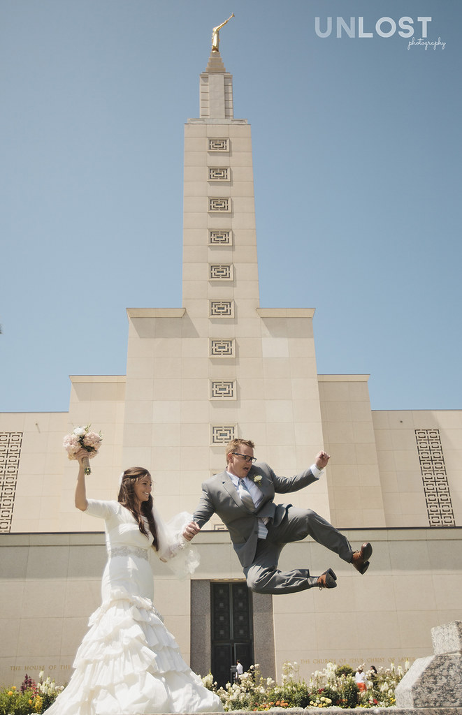 Los Angeles Mormon Temple Wedding Portraits