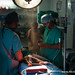 anesthesiologist at work for cleft surgery