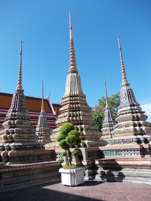 Wat Pho - temple spikesWat Pho Temple