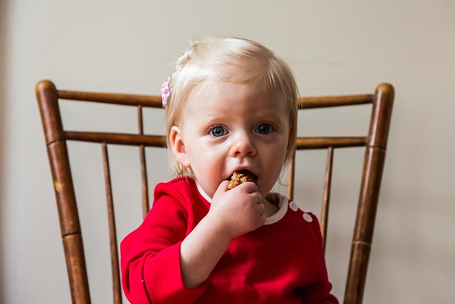 Clara eating carrot muffins