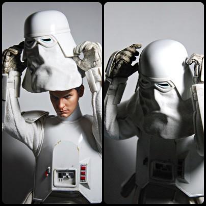 snowtrooper helmet vs sans helmet