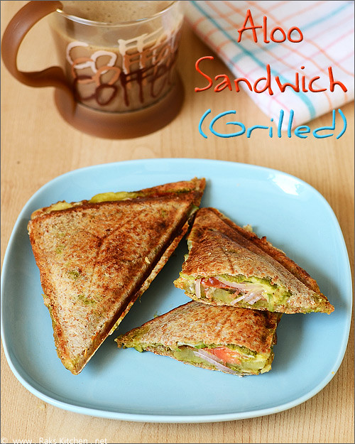 aloo veg grilled sandwich recipe
