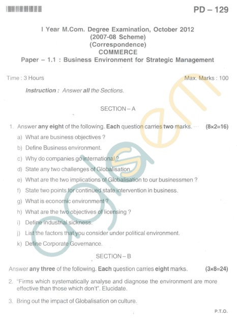 Bangalore University Question Paper <img src=