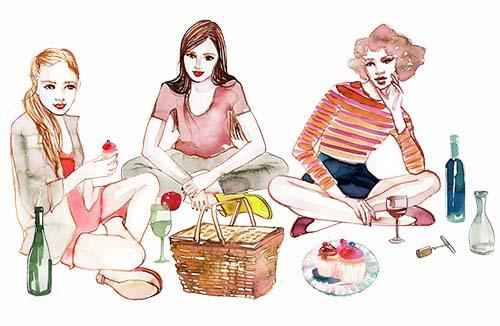Abby Jessy Linda picnic