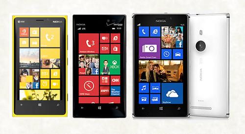 Nokia Lumia 925 telefonas metaliniu korpusu