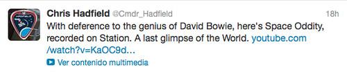 Tweet Chris Hadfield