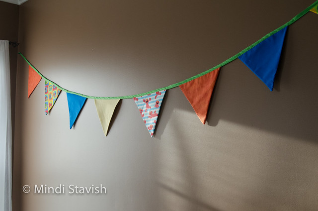 sesame street fabric penant birthday banner