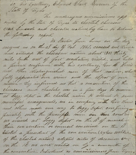 James E. Harrison report, 1861, Carter-Harrison Family papers